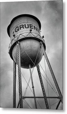 Gruene Water Tower Metal Print by Stephen Stookey
