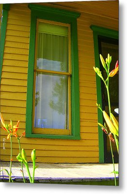 Green Window Metal Print by Ed Smith