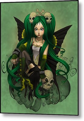Green With Envy And Anger Metal Print by KimiCookie Williams