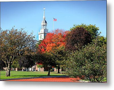 Greenfield Village And Henry Ford Museum In The Fall In Dearborn Michigan Metal Print by Design Turnpike