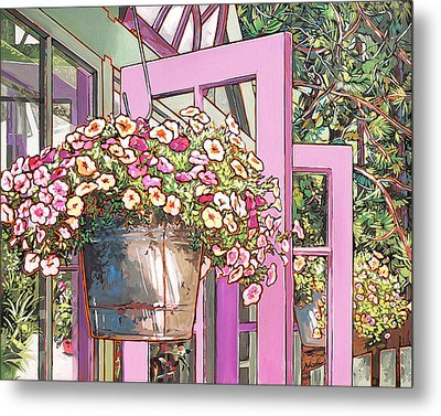 Greenhouse Doors Metal Print by Nadi Spencer