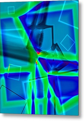 Metal Print featuring the digital art Greenstick by Lola Connelly