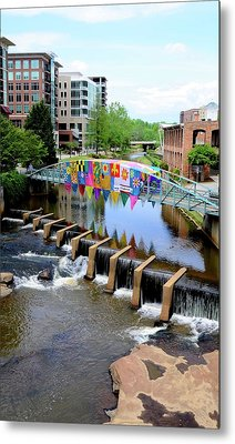 Metal Print featuring the photograph Greenville River Walk by Corinne Rhode