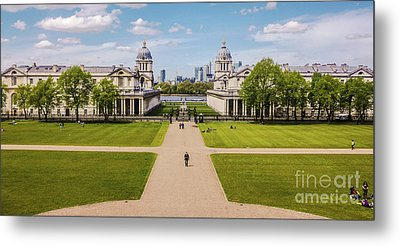 Greenwich Park And The Old Royal Naval College England Metal Print by Lexa Harpell