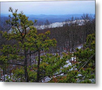 Greenwood Lake From The Appalachian Trail Metal Print by Raymond Salani III