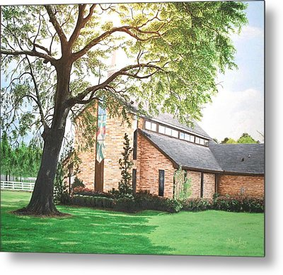 Metal Print featuring the painting Greenwood by Mike Ivey
