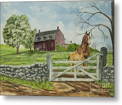 Greeting At The Gate Metal Print by Charlotte Blanchard