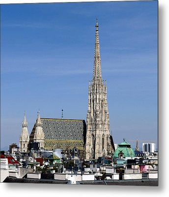 Greetings From Vienna Metal Print
