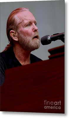 Gregg Allman On The Farewell Tour Metal Print by Concert Photos