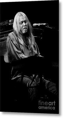 Gregg Allman Vintage Bw Photo Metal Print by Concert Photos