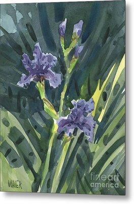Greg's Iris Metal Print by Donald Maier