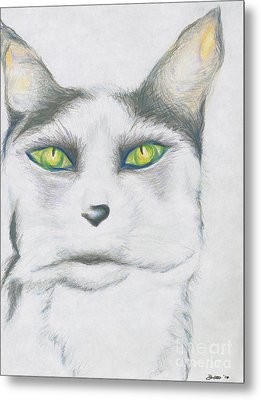 Metal Print featuring the drawing Gretta by Kim Sy Ok