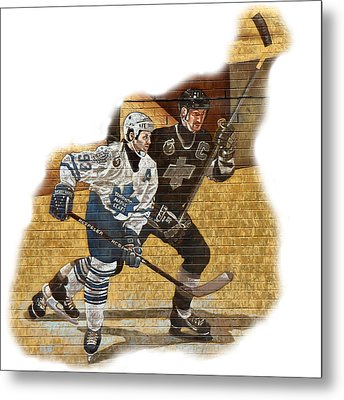 Gretzky And Gilmour Metal Print by Andrew Fare