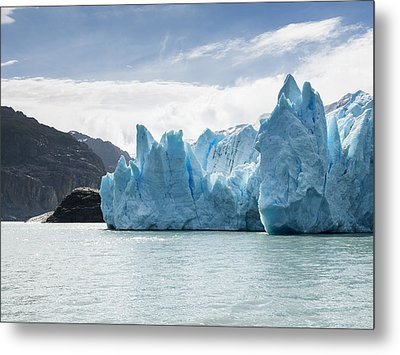 Grey Glacier And Grey Lake, Torres Del Metal Print by Keith Levit