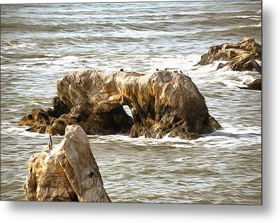 Metal Print featuring the photograph Grey Water At Window Rock by Barbara Snyder