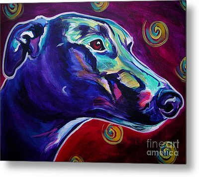 Greyhound -  Metal Print by Alicia VanNoy Call
