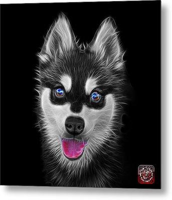 Greyscale Alaskan Klee Kai - 6029 -bb Metal Print by James Ahn
