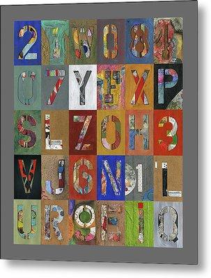 Grid Letters Metal Print