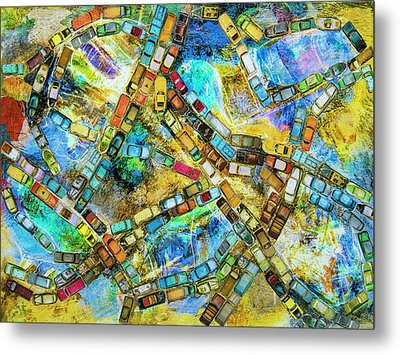 Gridlock Metal Print by Dominic Piperata