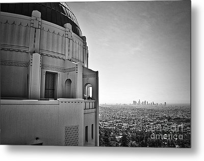 Griffith Observatory And Downtown Los Angeles Metal Print