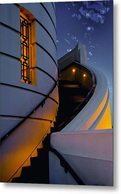 Griffith Observatory Side Entrance Metal Print