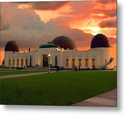 Griffith Park Observatory Metal Print by Timothy Bulone