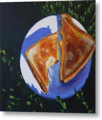 Grilled Cheese Please Metal Print by Sarah Vandenbusch