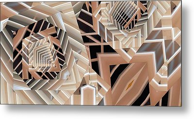 Grilled Metal Print by Ron Bissett