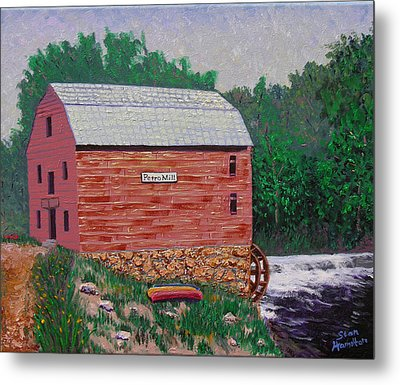 Grist Mill Metal Print by Stan Hamiilton