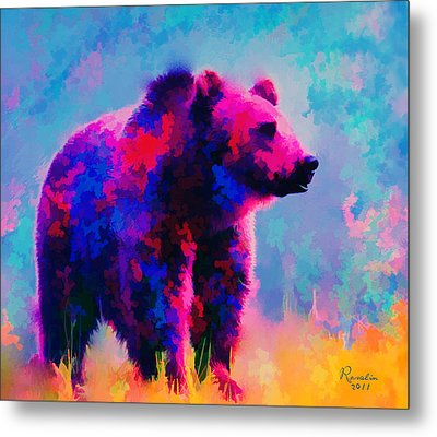 Grizzly Bear  Metal Print by Rosalina Atanasova