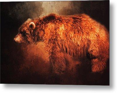 Grizzly Bear  Metal Print by Toni Hopper
