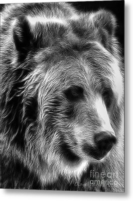 Grizzly Metal Print by Clare VanderVeen