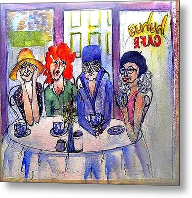 Groovey Old Ladies Metal Print