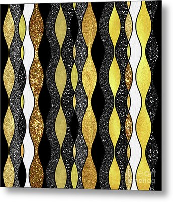 Groovy, Baby Modern Take On A Retro 1960s Design Metal Print by Tina Lavoie