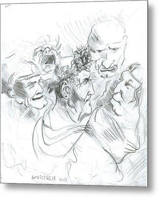 Grotesque Heads Metal Print by Joseph  Arico