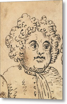 Grotesque Male Head Metal Print by William Hogarth