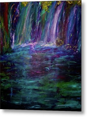 Metal Print featuring the painting Grotto by Heidi Scott