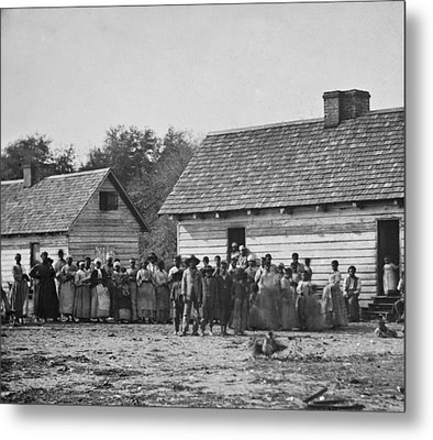 Group Of Slaves On J.j. Smiths Metal Print by Everett