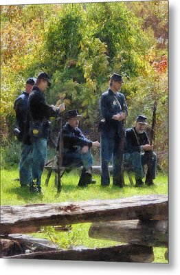 Group Of Union Soldiers Metal Print