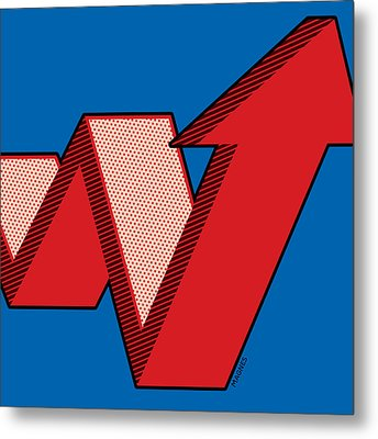 Metal Print featuring the digital art Growth Arrow by Ron Magnes