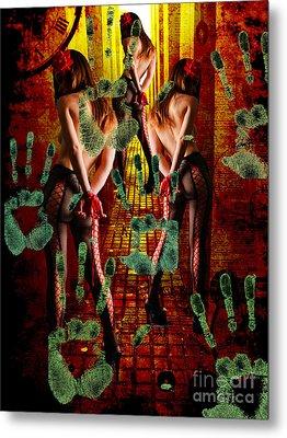 Grubby Littel Hands Enslave Metal Print by Tammera Malicki-Wong