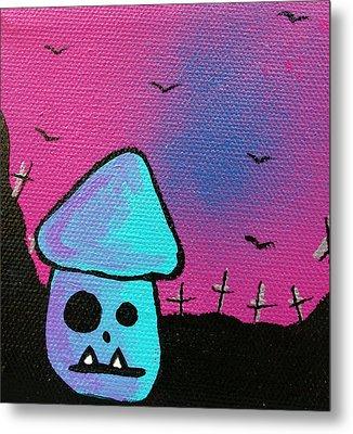 Gruff Zombie Mushroom Metal Print by Jera Sky
