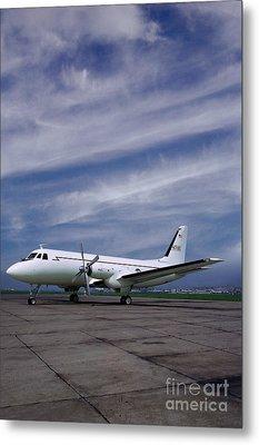 Grumman G-159 Gulfstream Patiently Waits, N719g Metal Print