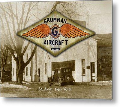 Grumman Wings Metal Print