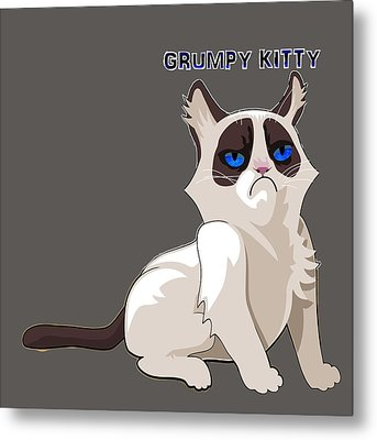 Grumpy Cat Metal Print
