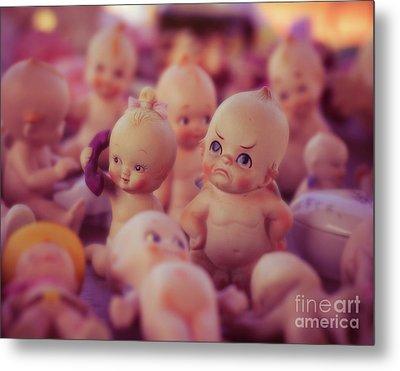 Grumpy Kewpie Doll Metal Print by Sonja Quintero