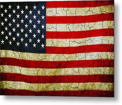 Grunge American Flag  Metal Print