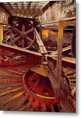 Metal Print featuring the photograph Grunge Gears by Robert Kernodle