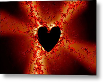 Grunge Heart Metal Print by Phill Petrovic