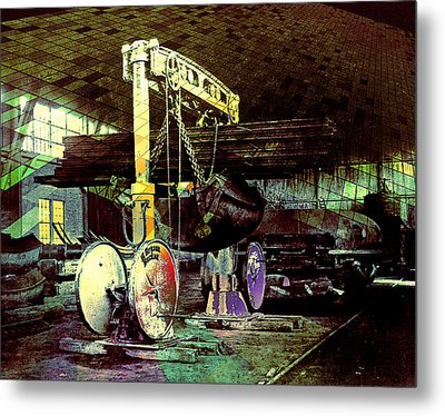 Metal Print featuring the photograph Grunge Hydraulic Lift by Robert G Kernodle